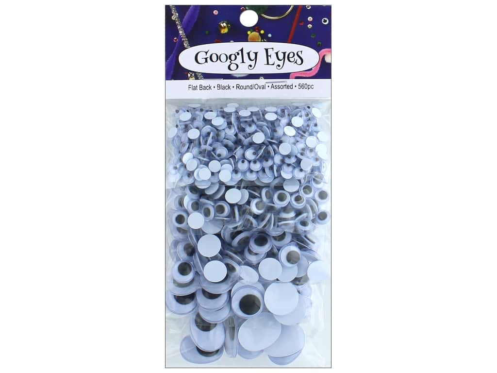 PA Essentials Googly Eyes Assorted 560 pc. Black
