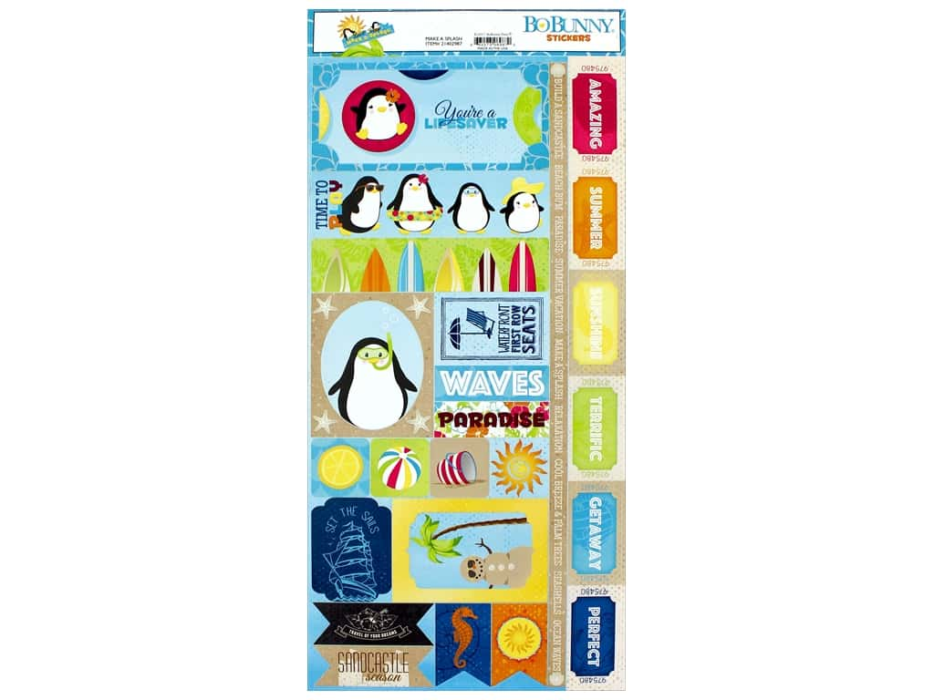 Bo Bunny Collection Make A Splash Sticker (12 pieces)