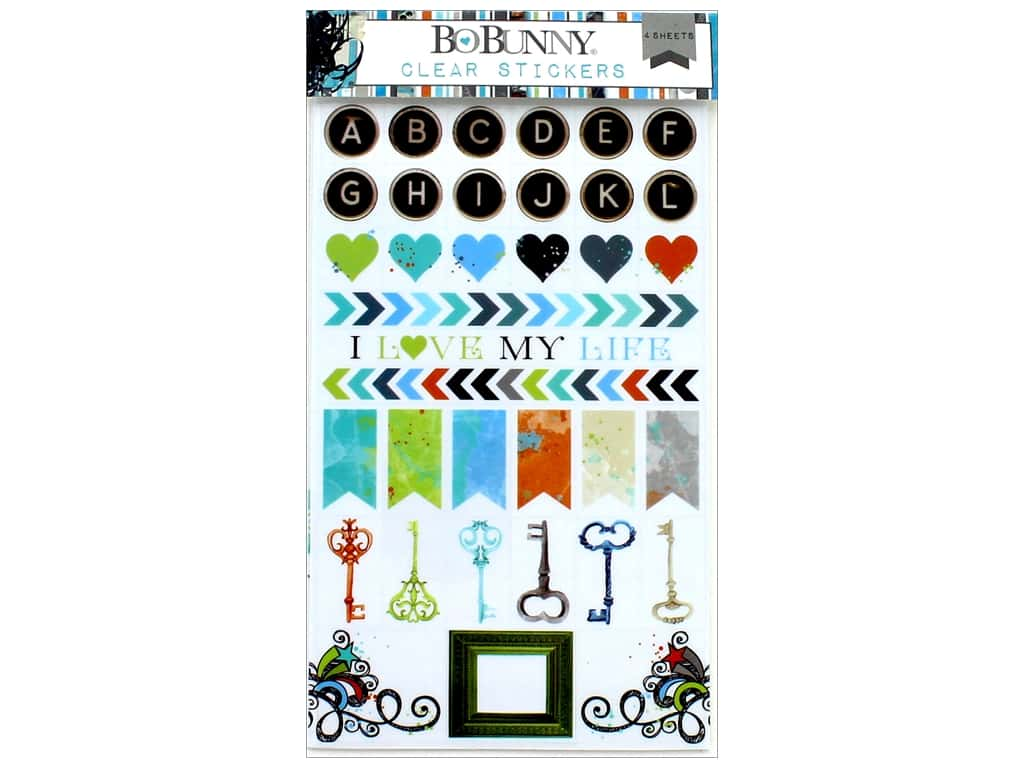 Bo Bunny Collection Life In Color Clear Stickers