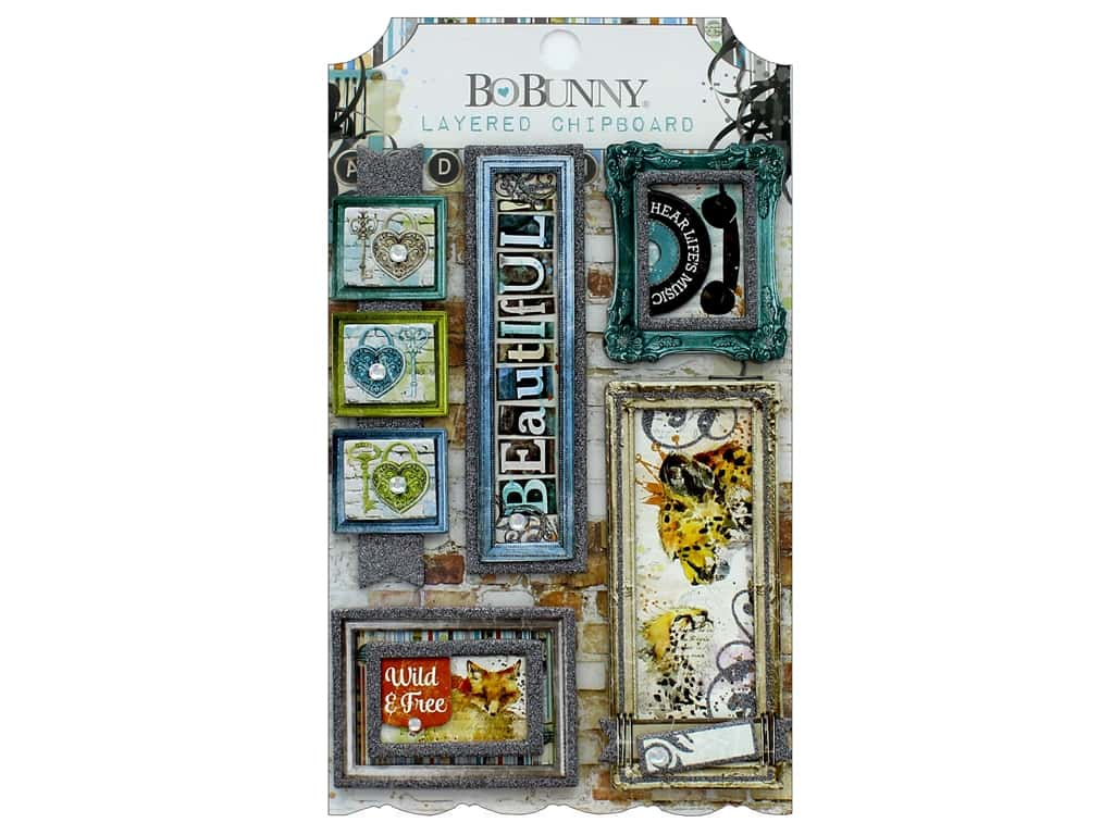 Bo Bunny Collection Life In Color Layered Chipboard