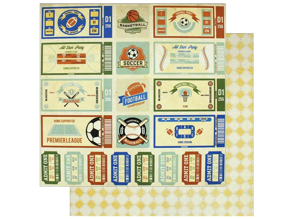 """Bo Bunny Collection Game On Paper 12""""x 12"""" (25 pieces)"""