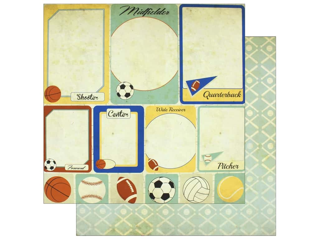"""Bo Bunny Collection Game On Paper 12""""x 12"""" Cards (25 pieces)"""