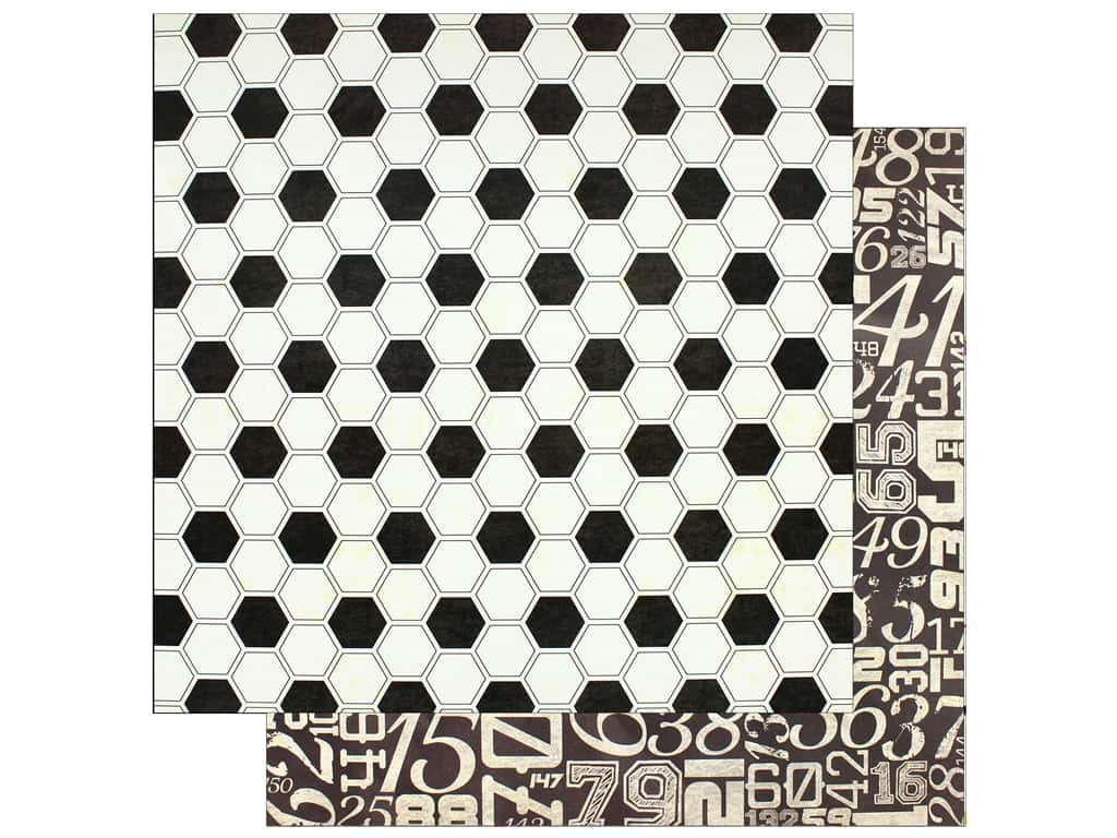 """Bo Bunny Collection Game On Paper 12""""x 12"""" Kick It (25 pieces)"""