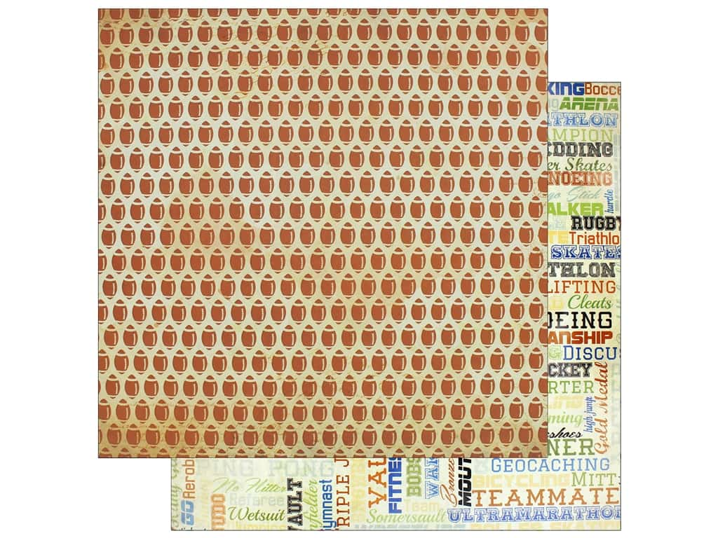 """Bo Bunny Collection Game On Paper 12""""x 12"""" Pigskin (25 pieces)"""