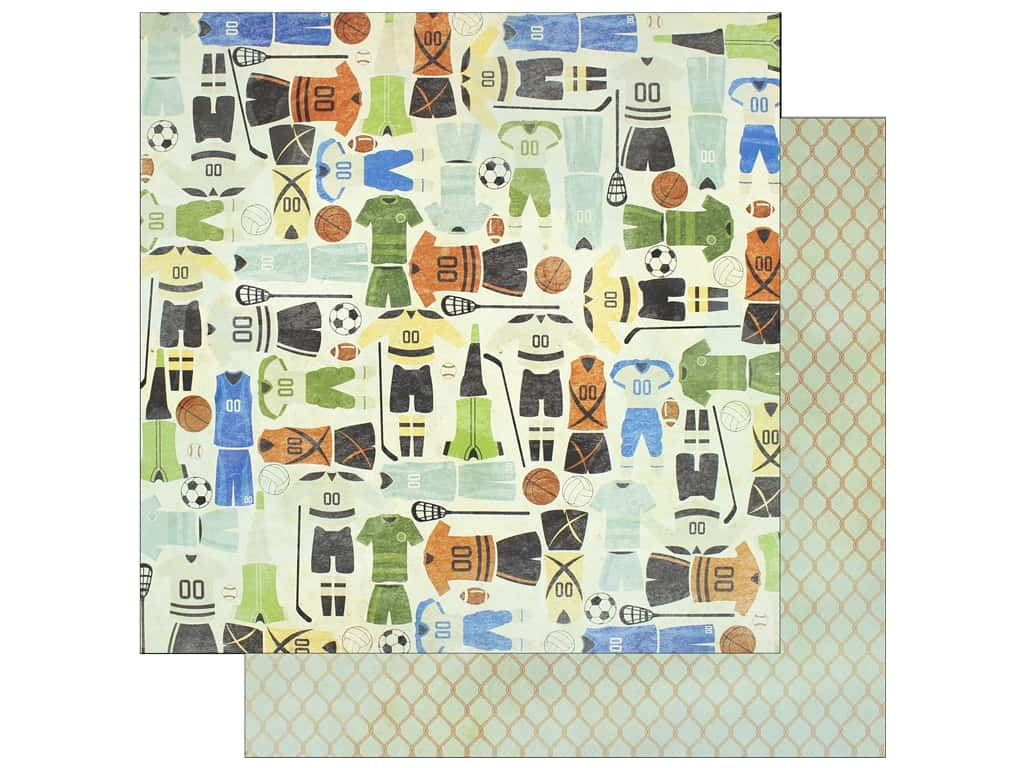"""Bo Bunny Collection Game On Paper 12""""x 12"""" Jerseys (25 pieces)"""