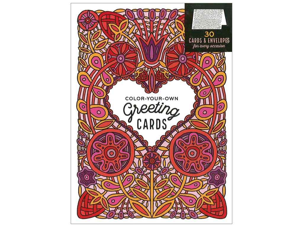 Color-Your-Own Greeting Cards: 30 Cards & Envelopes for Every Occasion by Caitlin Keegan