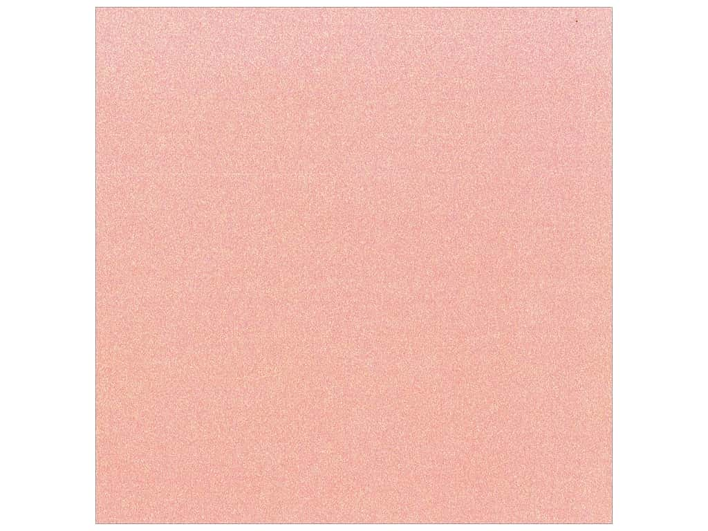 Best Creation 12 x 12 in. Cardstock Glitter Hot Pink (15 pieces)