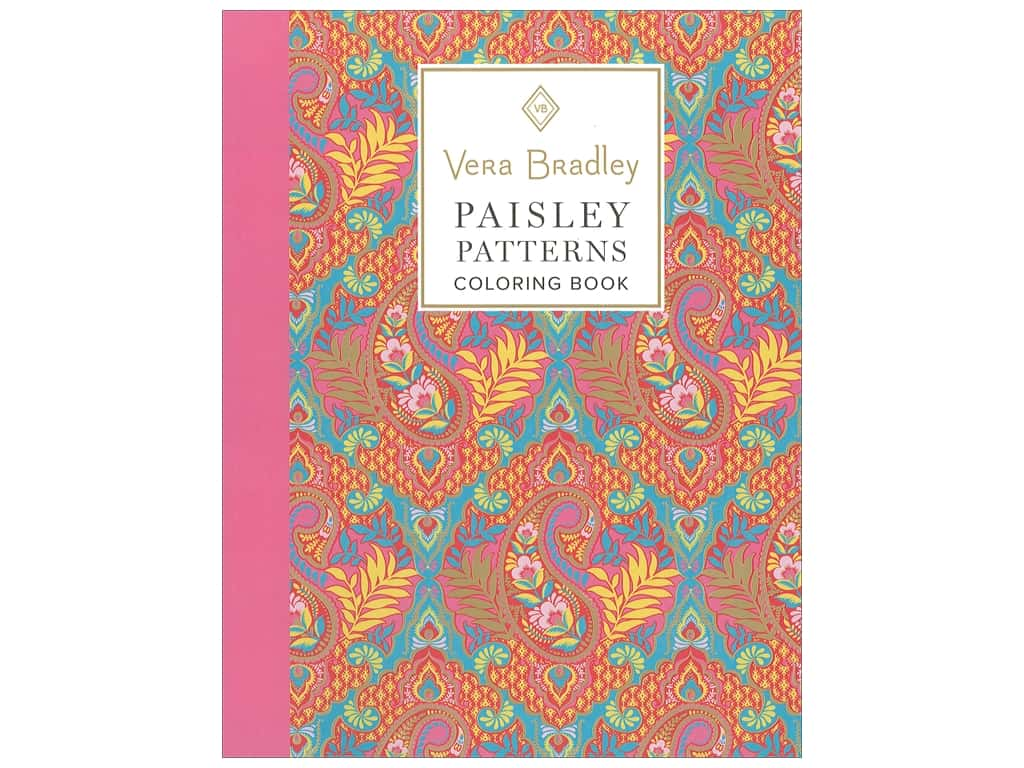 Vera Bradley Paisley Patterns Coloring Book