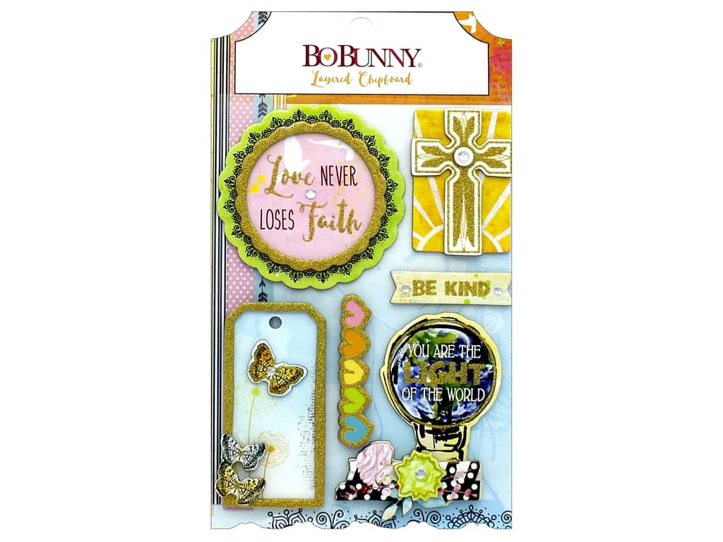 Bo Bunny Collection Faith Layered Chipboard