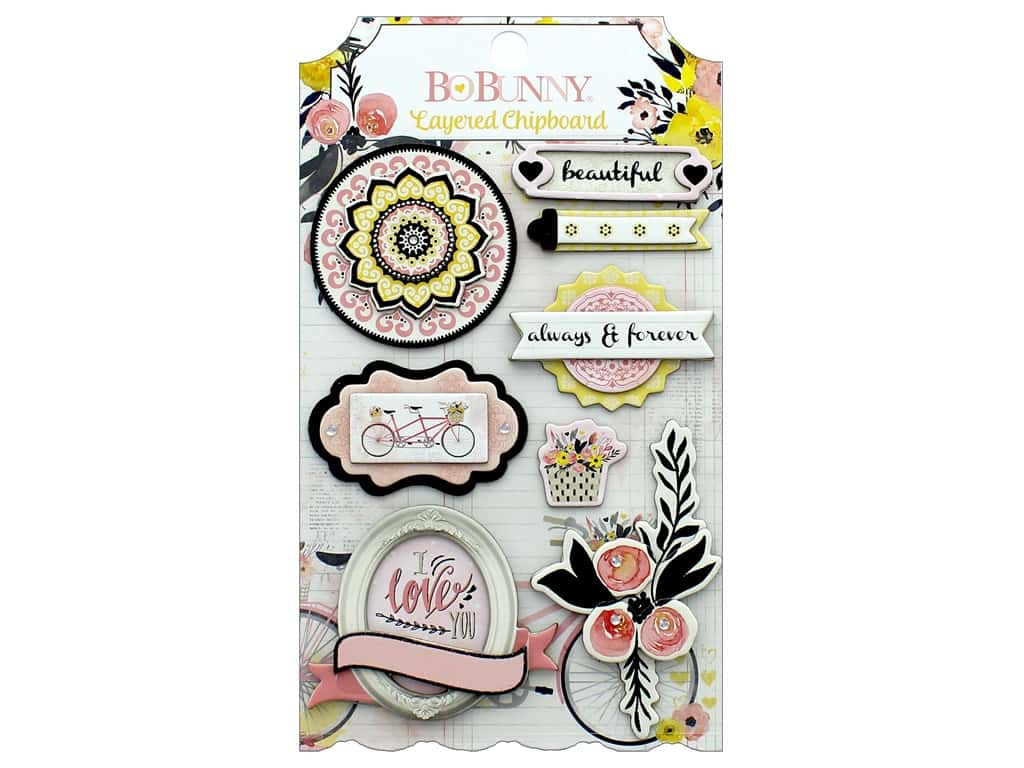 Bo Bunny Collection Petal Lane Layered Chipboard