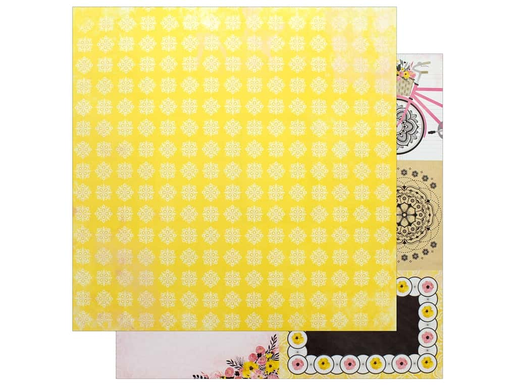 "Bo Bunny Collection Petal Lane Paper 12""x 12"" Love Notes (25 pieces)"