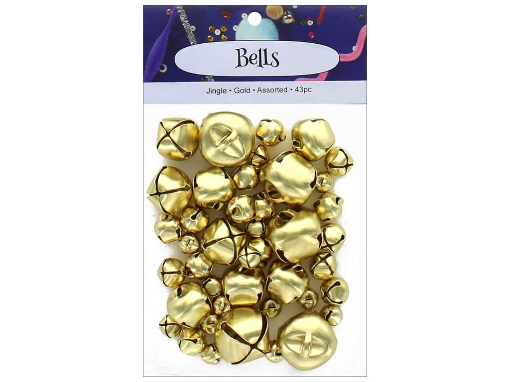 PA Essentials Jingle Bells Assorted Sizes 43 pc. Gold
