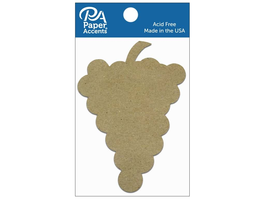 Paper Accents Chipboard Shape Grapes 8 pc. Natural
