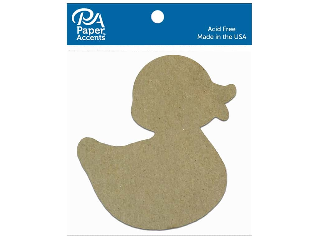 Paper Accents Chipboard Shape Rubber Duck 8 pc. Natural