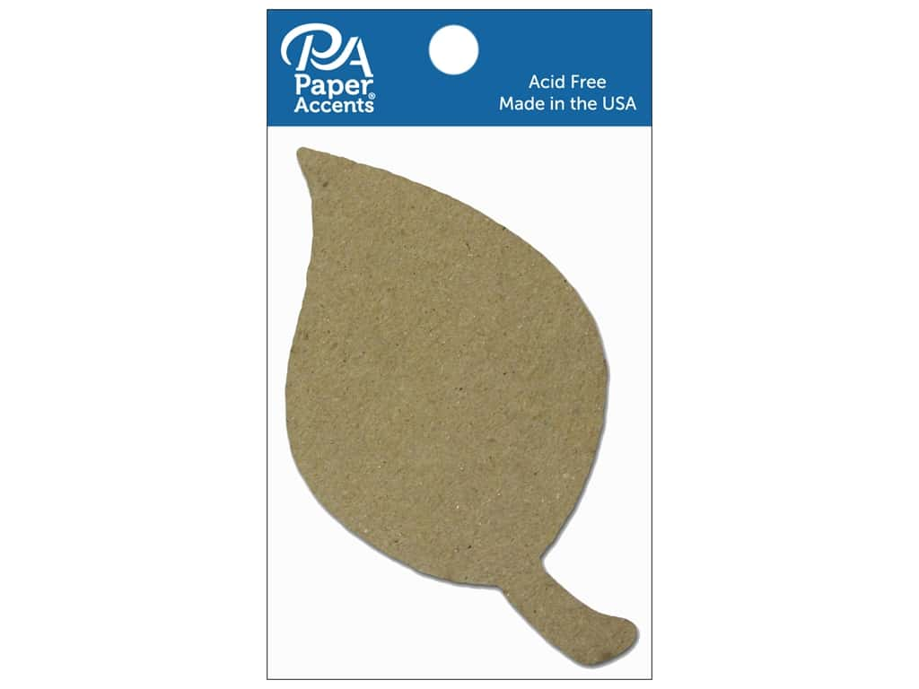 Paper Accents Chipboard Shape Leaf 8 pc. Natural