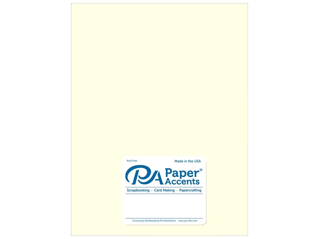 Paper Accents Pearlized Paper 8 1/2 x 11 in. #884 Cream 5 pc.