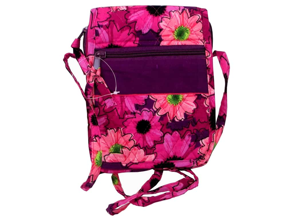 Darice Quilted Small Crossbody Hipster Bag - Pink Floral