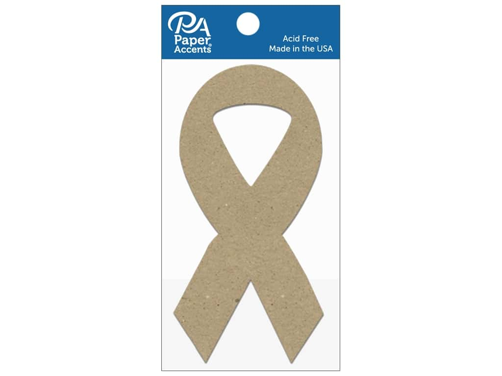 Paper Accents Chipboard Shape Cause Ribbon 8 pc. Natural