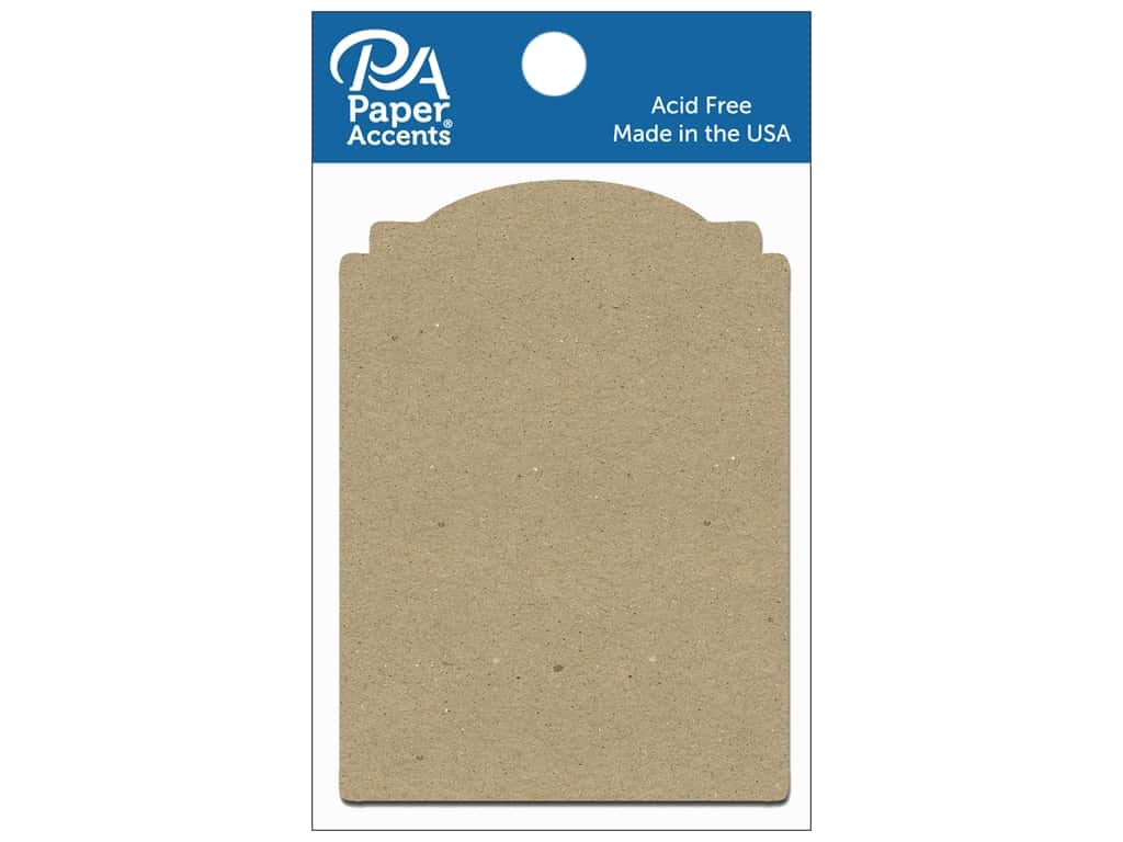 Paper Accents Chipboard Shape Marquee #2 8 pc. Natural