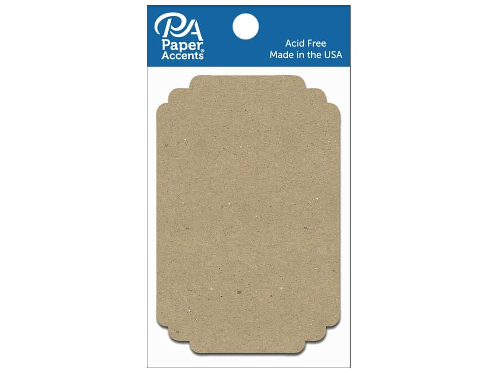 Paper Accents Chipboard Shape Marquee #3 8 pc. Natural