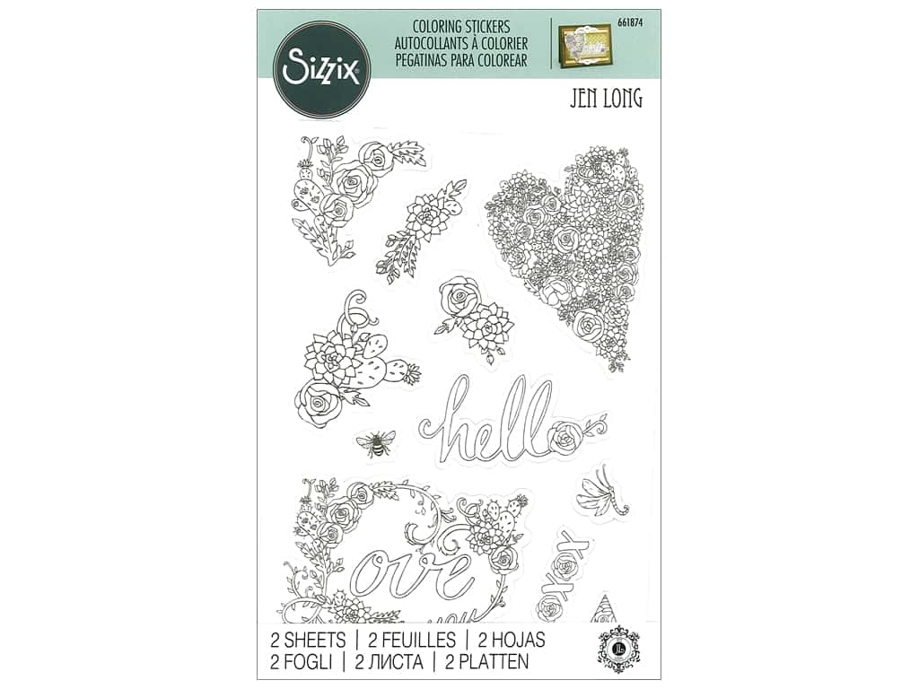 Sizzix Sticker Jen Long In Bloom