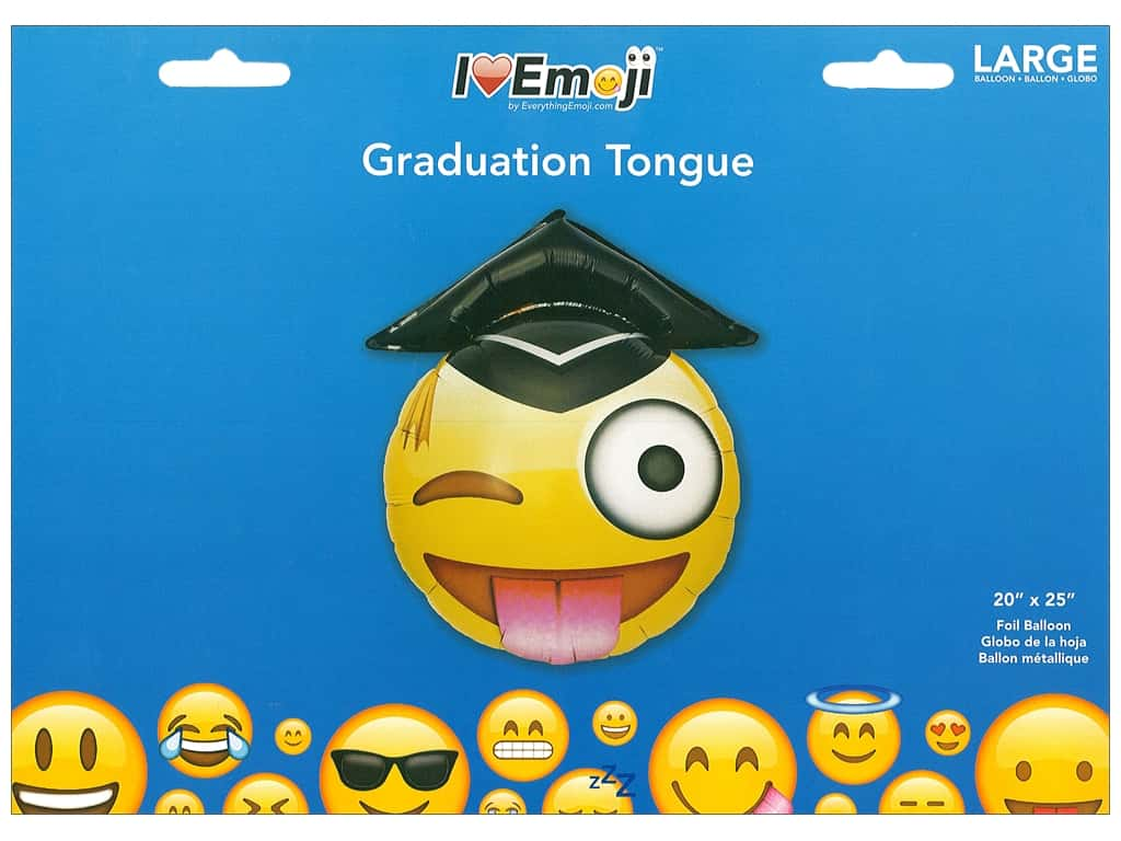 Everything Emoji Balloon Graduation Tongue