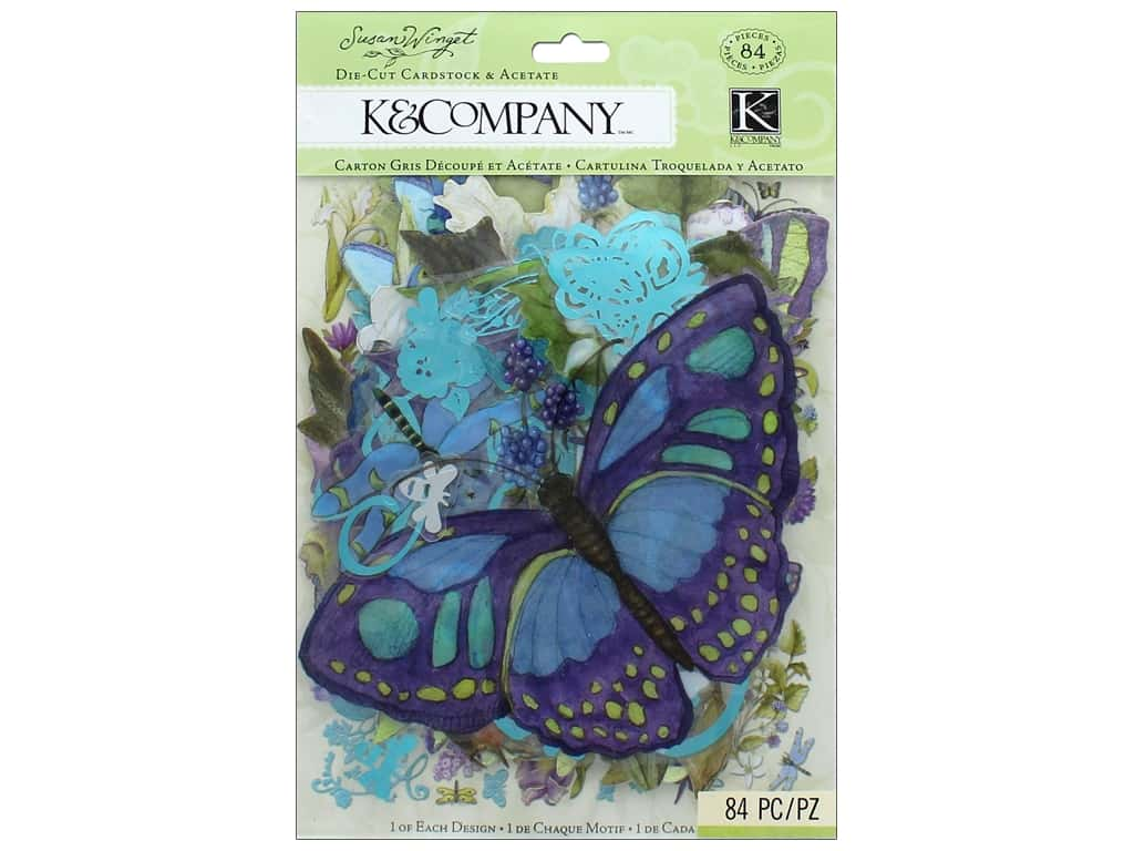 K&Company Die Cut And Acetate Susan Winget Botanical (3 sets)