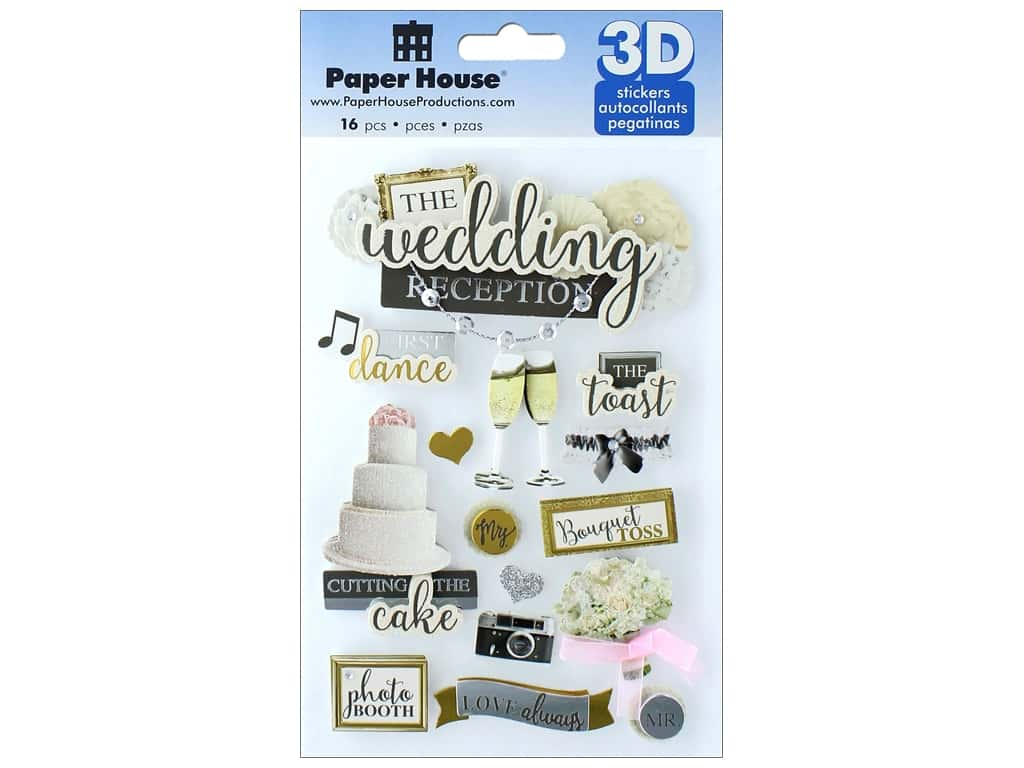 Paper House Sticker 3D Wedding Reception