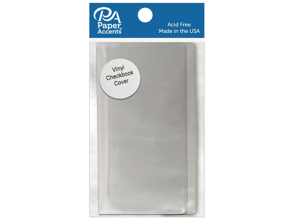 Paper Accents Vinyl Checkbook Cover 6 1/4 x 6 3/4 in. Clear