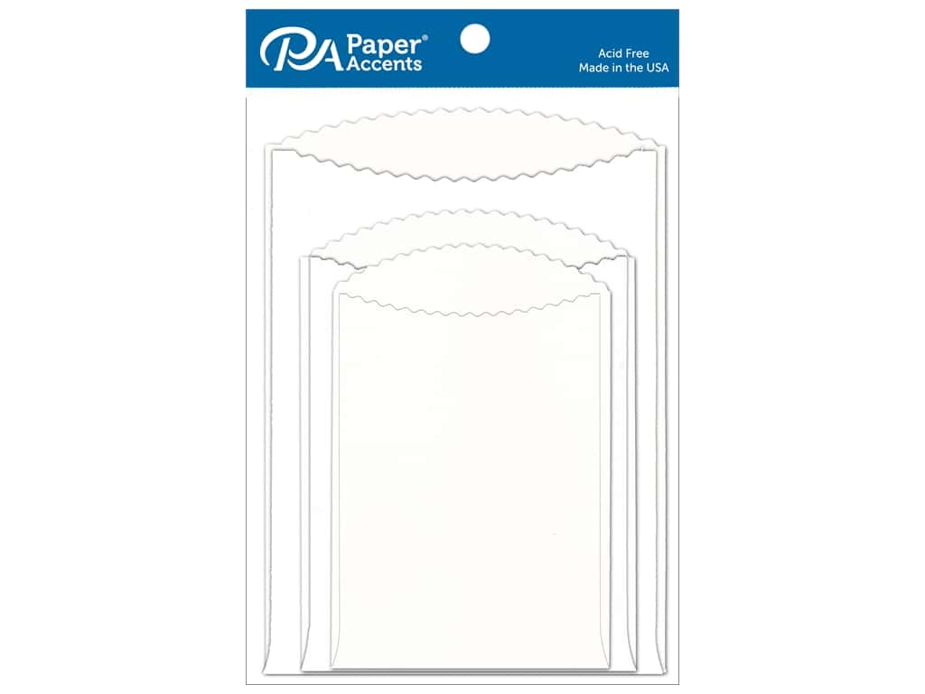 Paper Accents Pocket Assorted Sizes White 8 pc.