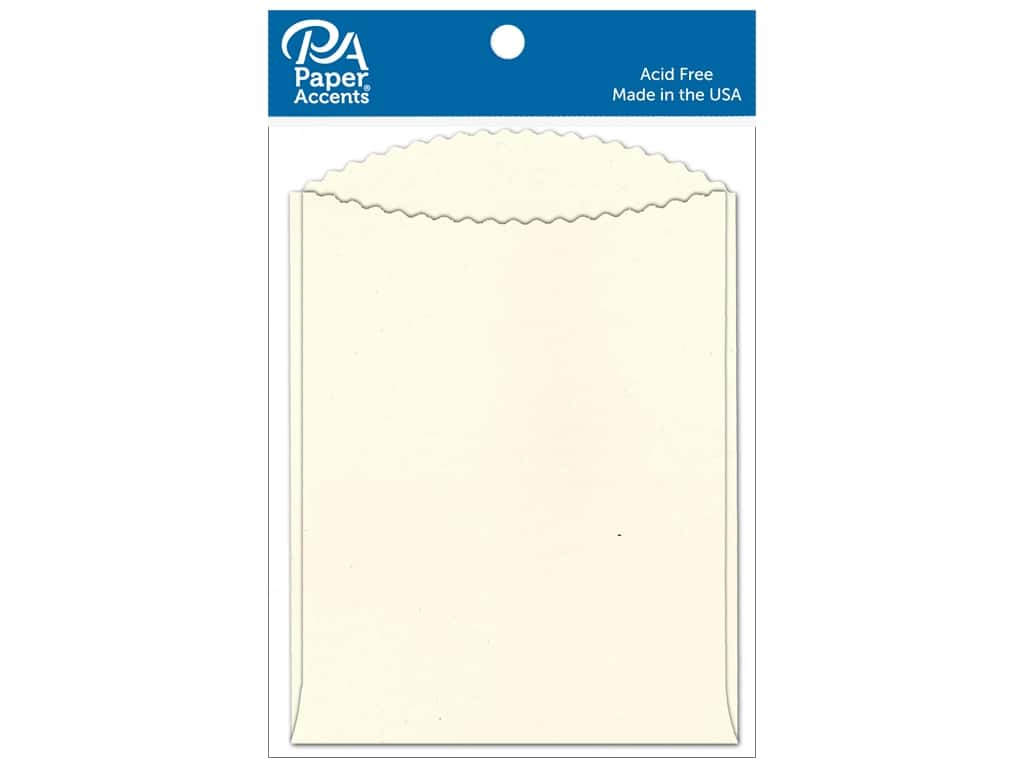 Paper Accents Pocket 4 1/4 x 5 1/2 in. Cream 10 pc.