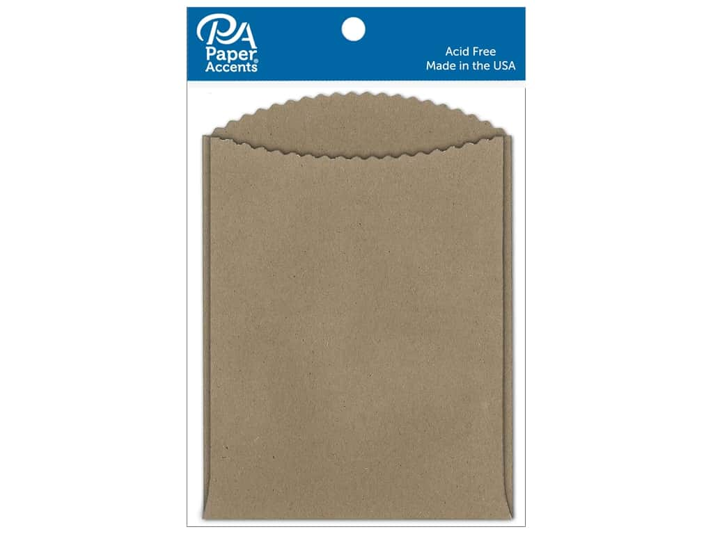 Paper Accents Pocket 4 1/4 x 5 1/2 in. Brown Bag 10 pc.