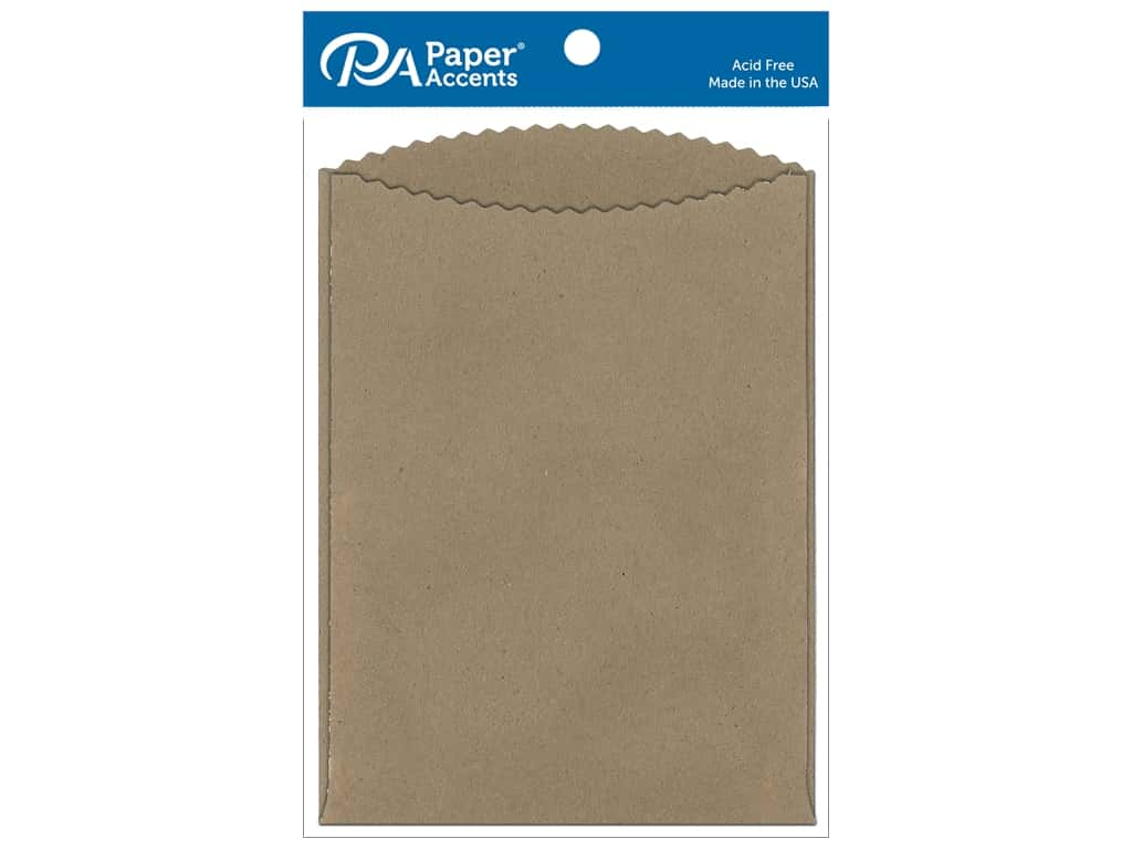 Paper Accents Pocket 5 x 7 in. Brown Bag 8 pc.