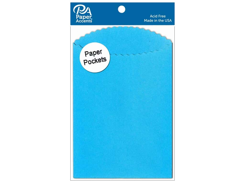 Paper Accents Pocket 3 1/2 x 5 in. Blue 10 pc.