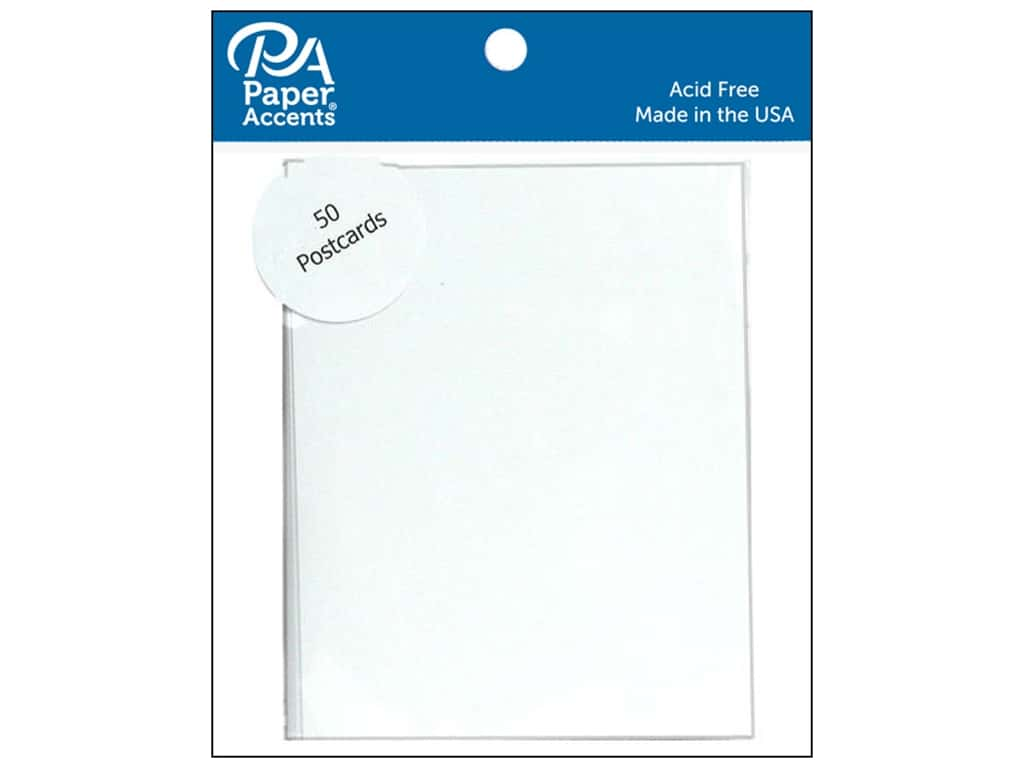 Paper Accents Post Cards 4 1/4 x 5 1/2 in. White 50 pc.