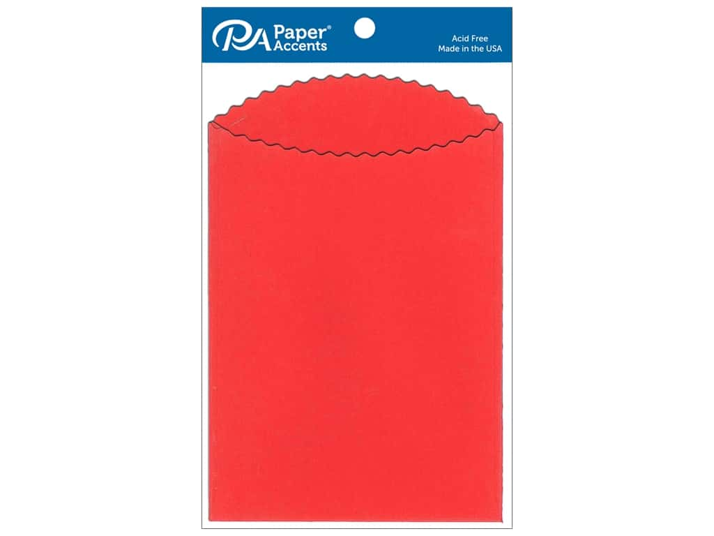 Paper Accents Pocket  3 1/2 x 5 in. Red 25 pc.