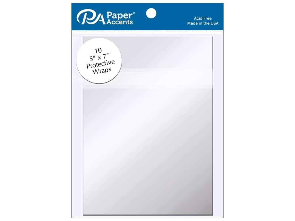 Paper Accents Protective Wrap 5 x 7 in. Clear 10 pc.