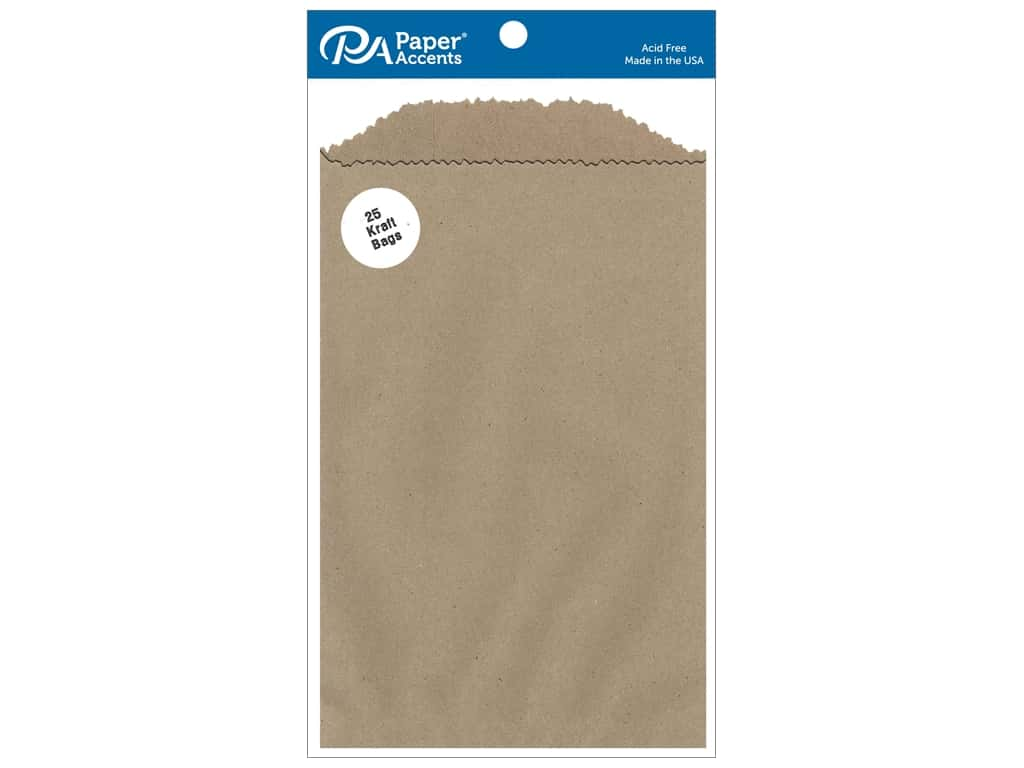 Paper Accents Bags 5 x 7 1/2 in. Kraft 25 pc.