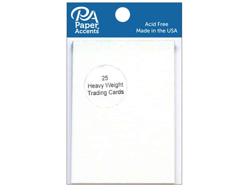 Paper Accent Trading Cards 2 1/2 x 3 1/2 in. White 25 pc.