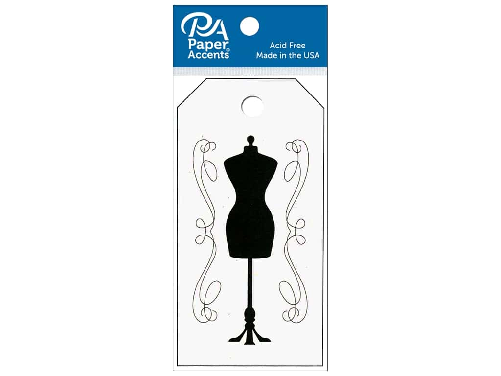 Paper Accents Craft Tags 2 x 3 3/4 in. 25 pc. Dress Form Birch
