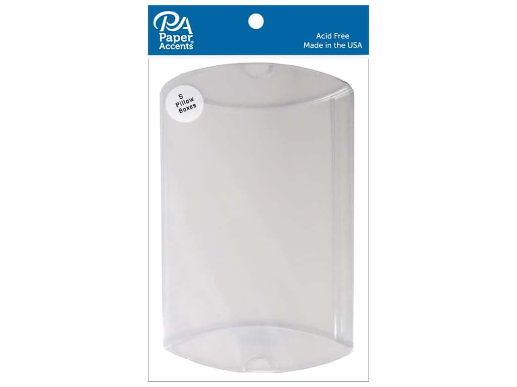 Paper Accents Pillow Box 5 x 1 1/4 x 7 in. 5 pc. Clear