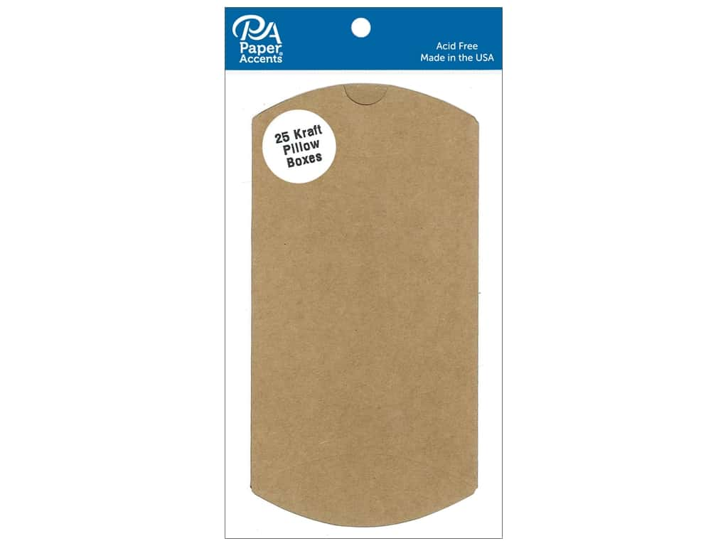 Paper Accents Pillow Box 3 x 1 x 5 in. 25 pc. Kraft