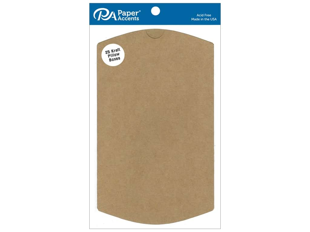 Paper Accents Pillow Box 5 x 1 1/4 x 7 in. 25 pc. Kraft