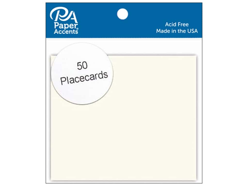 Paper Accents Placecards 3 x 3 1/2 in. Cream 50 pc.
