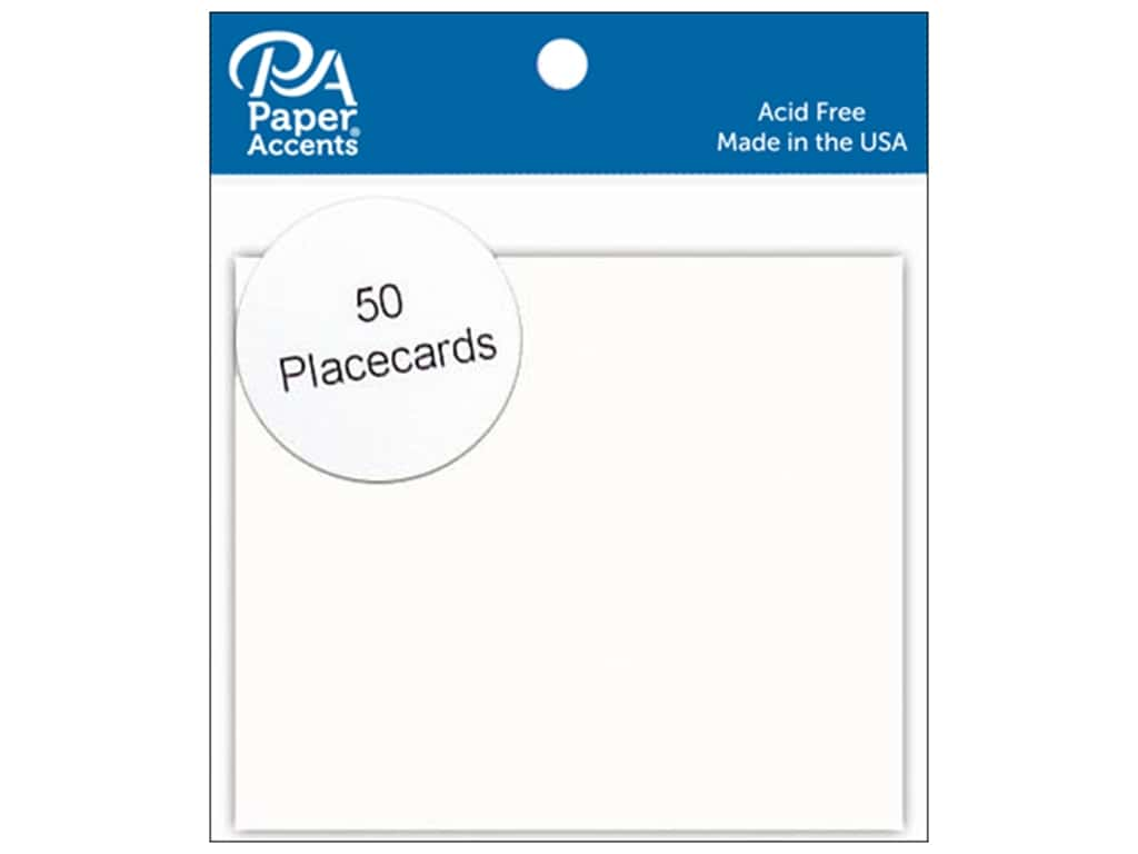 Paper Accents Placecards 3 x 3 1/2 in. White 50 pc.