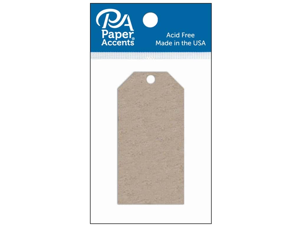 Paper Accents Craft Tags 1 5/8 x 3 1/4 in. 5 pc. Chipboard