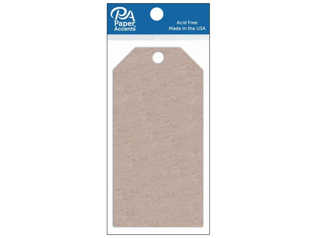 Paper Accents Craft Tags 2 1/2 x 5 1/4 in. 5 pc. Chipboard