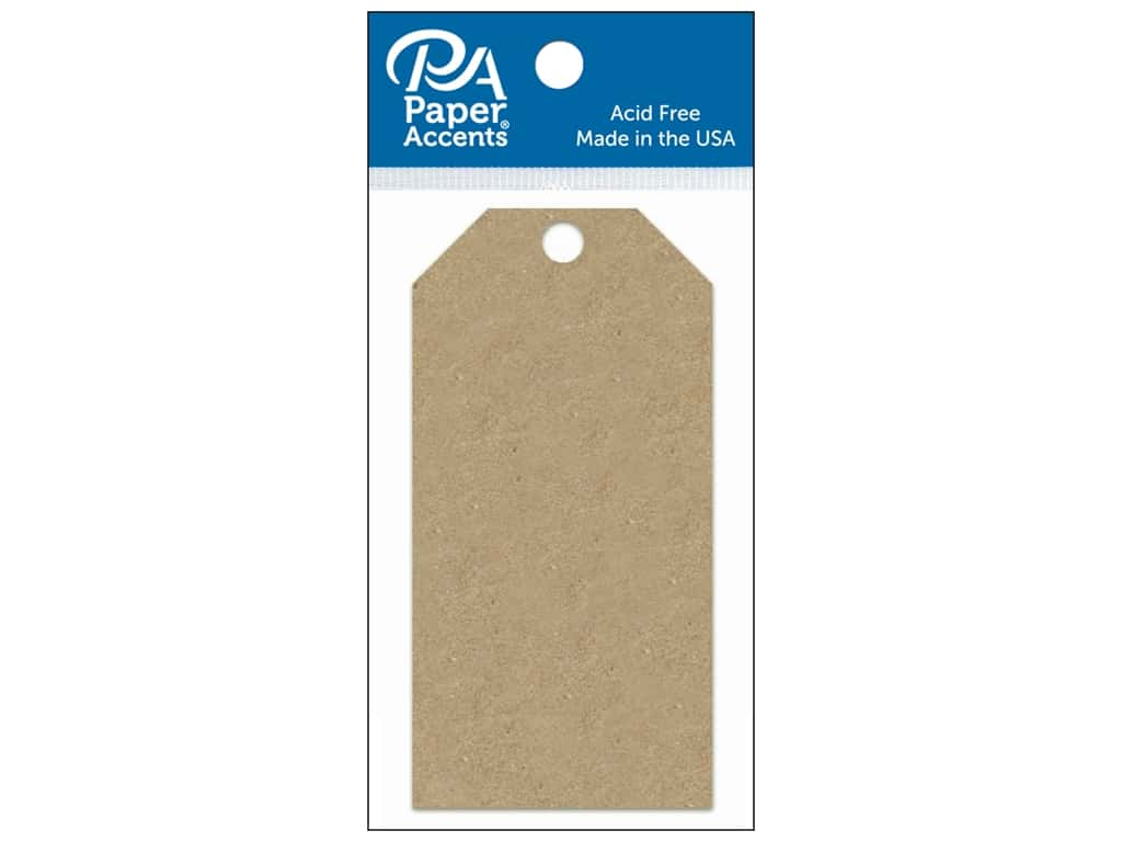 Paper Accents Craft Tags 2 1/8 x 4 1/4 in. 25 pc. Brown Bag