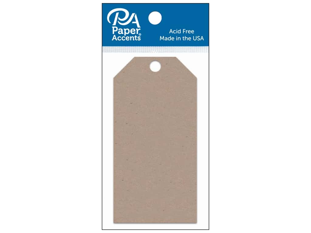 Paper Accents Craft Tags 2 1/8 x 4 1/4 in. 25 pc. Kraft