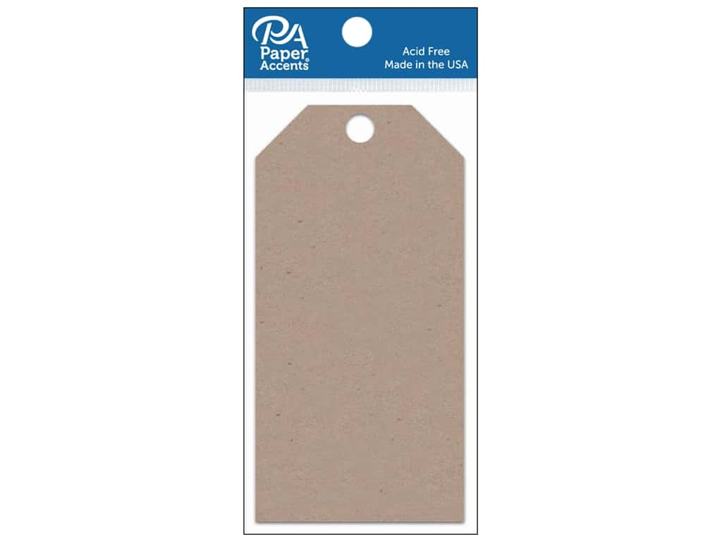 Paper Accents Craft Tags 2 1/2 x 5 1/4 in. 25 pc.Kraft